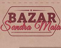 Cartaz bazar Sandra Maia