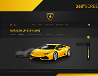 Lamborghini website Re-design