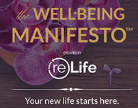 """Concept + Landing Page design for """"the Well Being Manif"""
