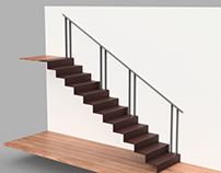 Bespoke steel handrail - Bondi, Sydney.