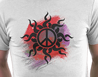 Peace Sign - Paint - T Shirt Stickers And Metal Poster