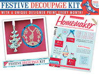 Homemaker Issue 13 with free decoupage kit