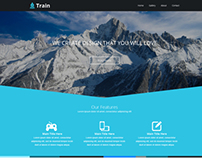 Train Landing page template