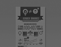Infographic Poster Gender Binaries