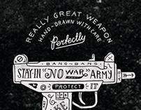 Hand-drawn guns