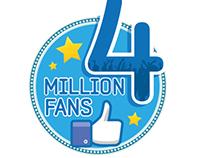 Samsung Egypt 4 million fans logo, fan page