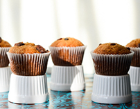 Pumpkin, nutmeg and cinnamon muffins