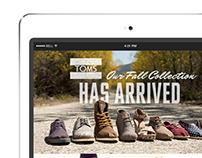 TOMS Fall '13 Retailer Eblasts