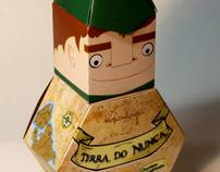 """Embalagem de Chocolate """"Terra Do Nunca"""""""