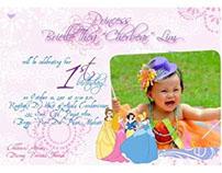 Brielle Lim's First Birthday Invitation