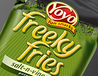 Yoyo - Freeky Fries - Branding & Packaging