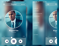 Music Player App Layout