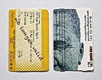 business card/metro ticket