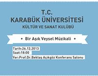 Karabük Üniversitesi Aşık Veysel Müzikali Afişi