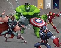 The Avengers (Marvel) - Character Design