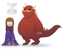 """It's Okay to Be Afraid"" children's book concept"