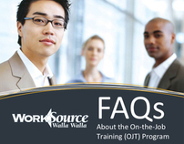 WorkSource On-the-Job Promotional Material