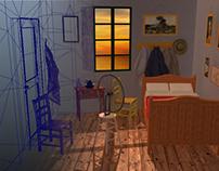 Van Gogh's room at Arles - 3D project