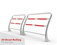 Sit-Stand Railing for Busstop