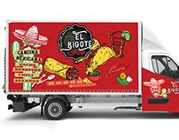 Logo, charte graphique Food Truck El Bigote, Loolye