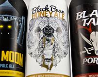 Wolf Brewing co. Beer Label & Bottle design