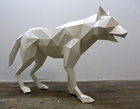 WOLF SCULPTURE (Lupa)