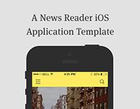 News Reader iOS7 Application Template