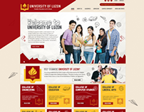 University of Luzon Website Design Mockup