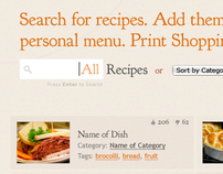 Jewish recipe and event and meal planning website