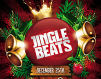 Jingle Beats Christmas Party Flyer