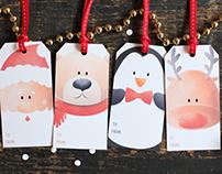 Santa and Friends Christmas Tags