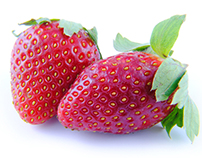 Strawberry on isolated background