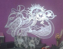 Wall Mural, Sliver Linings Interiors