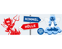 """Screendesign: """"Himmel oder Hölle"""""""