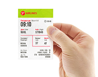 Concept / S7 AIRLINES /  Boarding pass