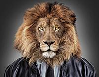 Men with Lion