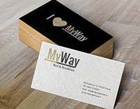 MyWay B&B Logo, Brand Identity and Website