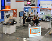 ATTO Booth Signage for NAB 2013