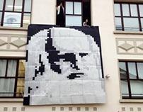 LEONARDO DA VINCI Portrait - pieces of toilet paper