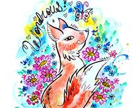 Wondrous! Watercolor illustration
