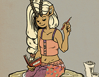 Gazelle character design