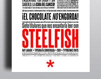 Specimen Steelfish // Typographic design