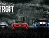 Detroit Muscle Cars Desktop Wallpaper