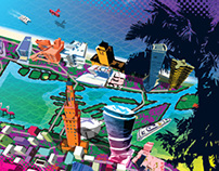 Magazine Cover Illustration about Art Basel Miami