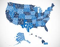 USA Typographic States