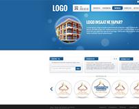 Logo inşaat kurumsal web sitesi çalışması