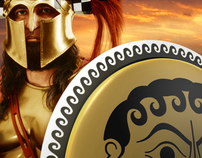 300 Spartans at Thermopylae: Photo Illustration
