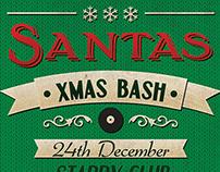 Santas Xmas Bash Flyer