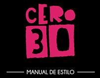 Manual de Estilo - CERO30