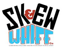 Skew Whiff co, typographic logo tshirt